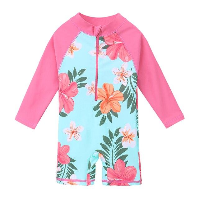 fee622c6e8 BAOHULU UPF50+ Print Children Swimwear Long Sleeve Baby Girl Swimsuit One  Piece Toddler Infant Bathing Suit for Girls Boy Kids