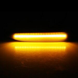 Image 5 - 2 sztuk samochodów boczne światła obrysowe led dynamiczny płynący sekwencyjny wskaźnik lampy Auto włączony kierunkowskaz dla BMW serii 7 E65 E66 E67