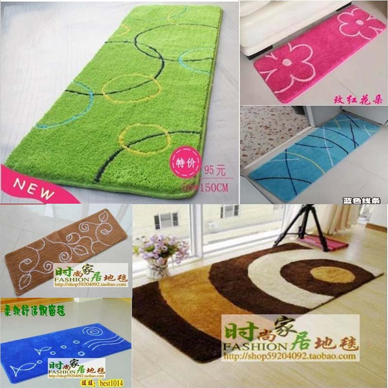 Green brief kitchen mat bed blankets piaochuang blanket child carpet 45 140 customize