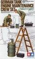 Tamiya Model Kit - German Tank Engine Maintenace Crew Set - 1:35 Scale - 35180