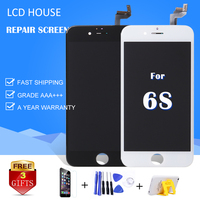 White Black For IPhone 6s Grade AAA LCD Display Touch Screen Glass Digitizer Full Replacement No