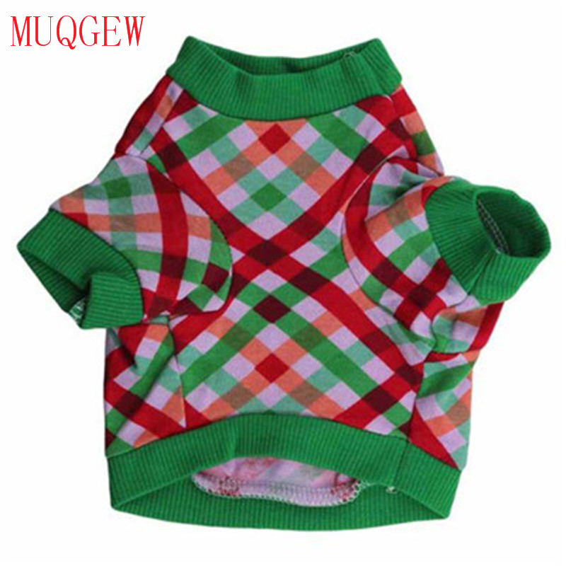 MUQGEW Small Dog Clothes Lattice Hoodies Clothing Pet Apparel Grid New Design Lovely Costume 2017 Fashion Hot Sale Autumn Winter