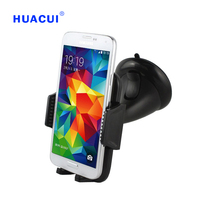 Free Shipping Newest High Quality Black Universal Car Windshield Retractable Rotate Mobile Phone Car Mount Holder