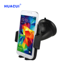 Free Shipping Newest High Quality Black Universal Car windshield Retractable Rotate Mobile Phone Car Mount Holder 065-072