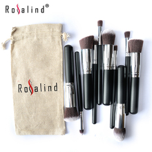 Super Deal !!! Rosalind 10 Pcs Professional Makeup Brushes Set Makeup Brushes Kit Free Draw String Makeup Bag
