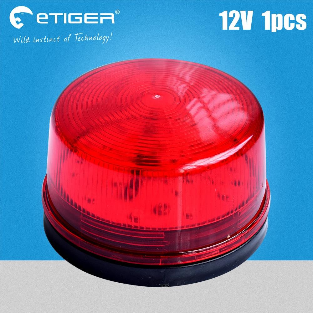 Red Mini Wired Strobe Siren DC12V Signal Warning Light Flash Siren LED Lamp Highlight Alarm Lamp for Alarm Systems Security Home cctv led strobe 180w road strobe led its strobe cctv its highlight led strobes