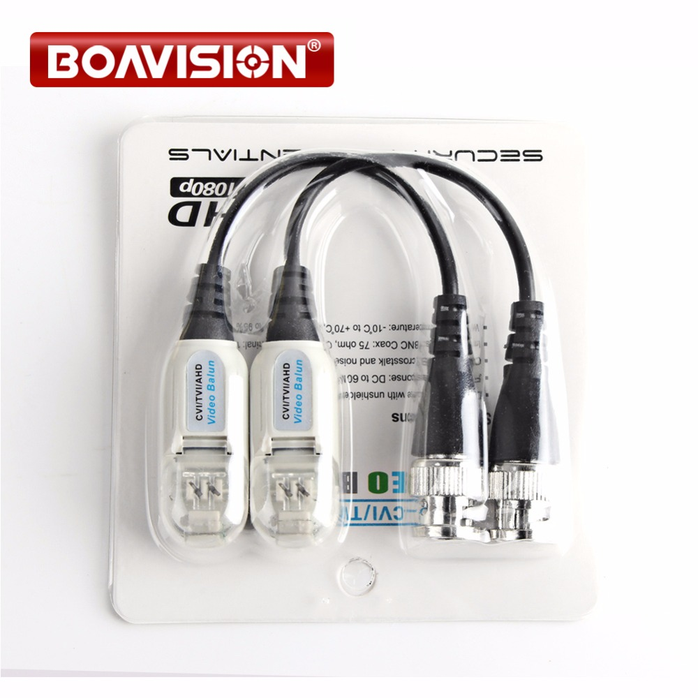10Pair HD 720P/1080P AHD/HDCVI/HDTVI BNC To UTP Cat5/5e/6 Video Balun Passive Transceivers Transmitter 200m Outdoor Waterproof