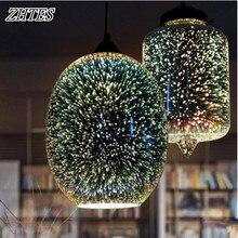 3D Feuerwerk Glas Pendelleuchte Fr Restaurant Esszimmer Wohnzimmer Leuchten 110 240 V