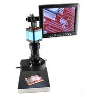 8X 130X C MOUNT Objektiv zoom 14MP HDMI HD USB Digital Industrie Video Mikroskop Kamera monitor led leuchten telefon PCB reparatur-in Mikroskope aus Werkzeug bei