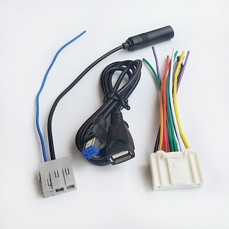 online get cheap car radio wiring com alibaba group car stereo radio harness antenna extension usb cable wire for nissan qashqai new teana
