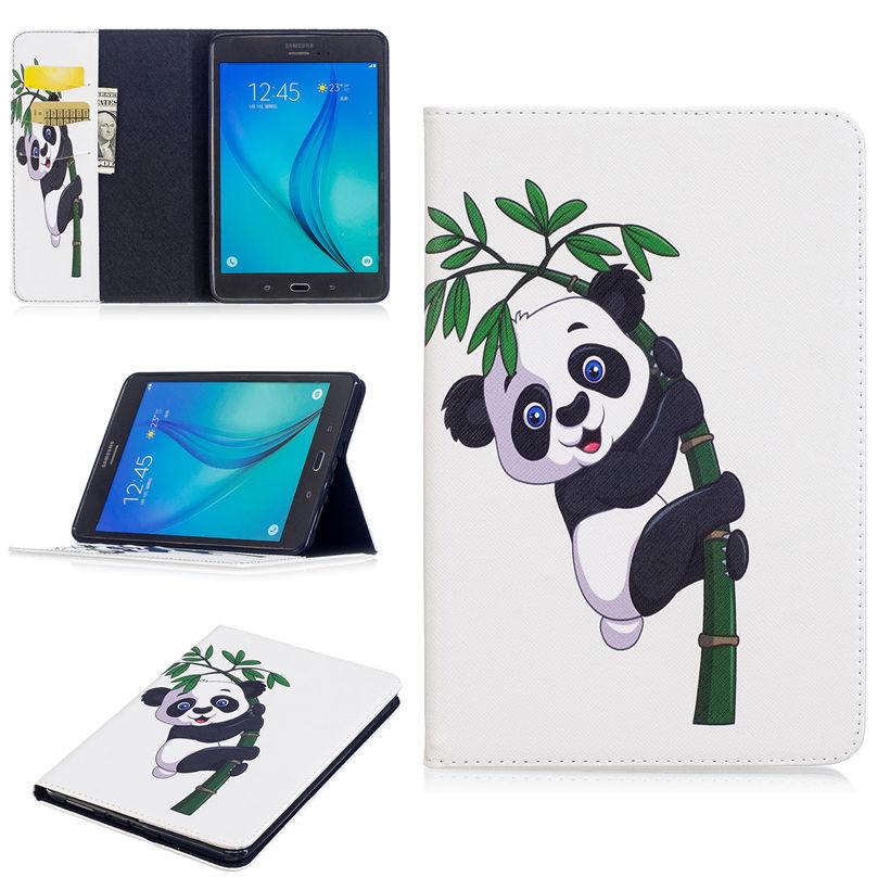 SM-T350 Fashion Panda Pattern Case For Samsung Galaxy Tab A T350 T351 T355 P350 8.0