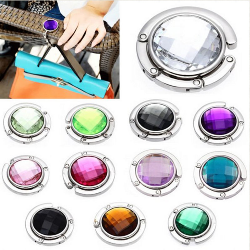 Portable Handbag Hook Portable Folding Handbag Hanger Bag Desk Hanger Multiple Bag Desk Hanger Foldable Purse Bag Hook Holder fashion crystal folding bag purse handbag hook hanger holder handbag hanger alloy hook clothes hook g1s002bl