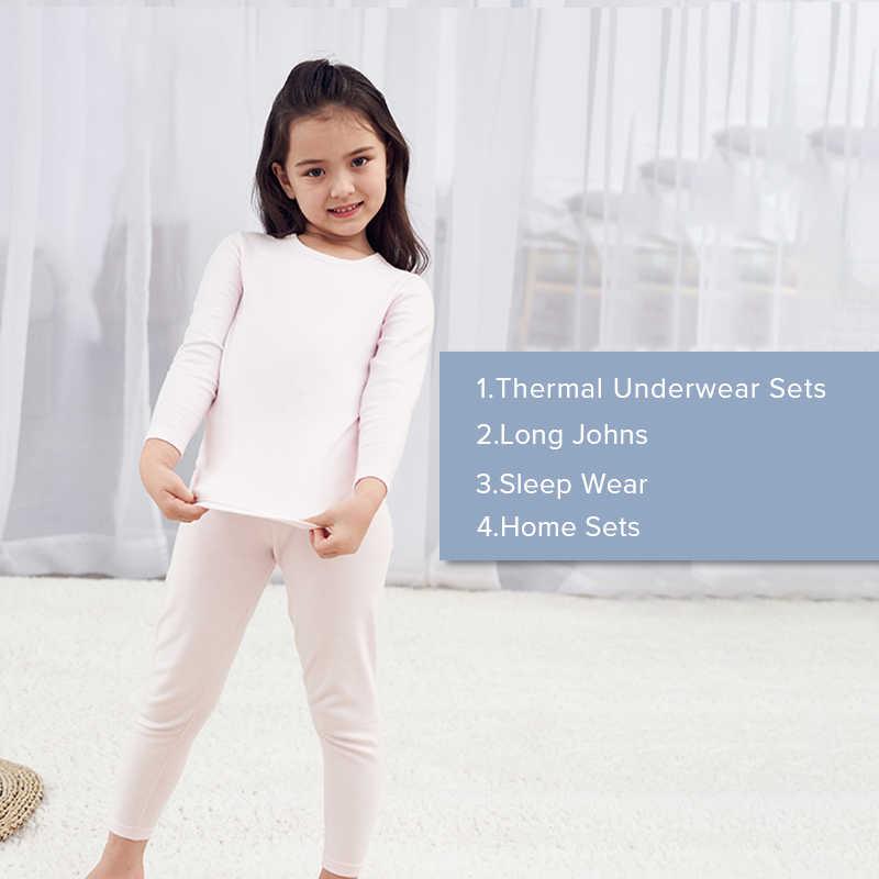 e087b709 ... Kids Long Johns Set Cotton Autumn Winter Ultra-Soft Thermal Children's  Clothing O-Neck ...