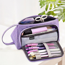 Stationery Storage Bag High Capacity Gifts Furl School Student Protection Colorful Brush Doodle Cases Pencil Supplies