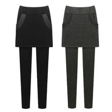 M 6XL Autumn Winter Women Leggings Pants New Skinny Thick With Velvet Fleece Elastic Stretch High