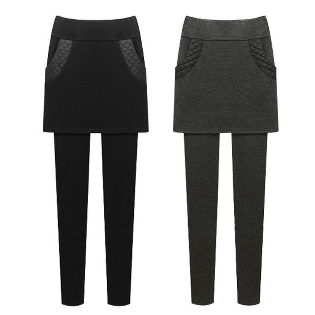 M ~ 6XL Otoño Invierno Polainas de Las Mujeres Pantalones Nueva Flaco Gruesa Con Terciopelo de Lana Elástico Stretch Pantalones de Cintura Alta