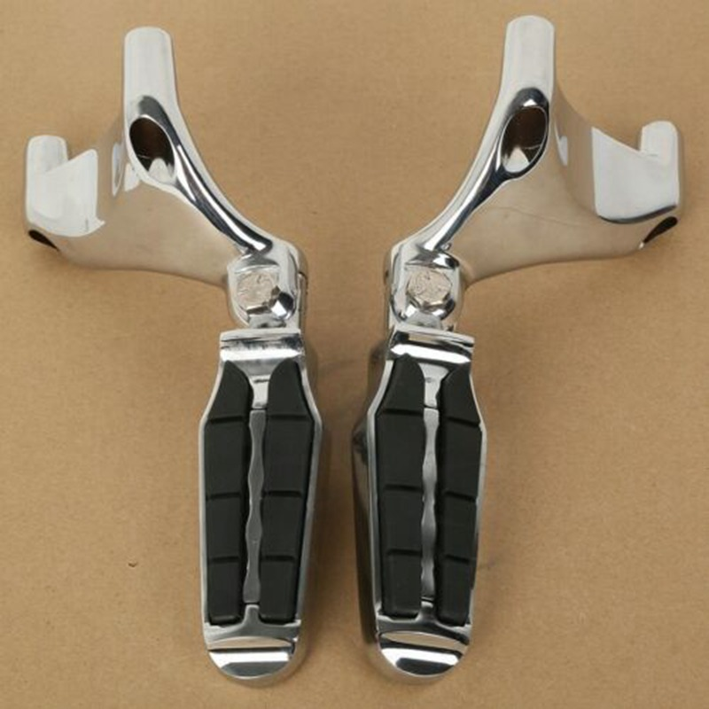 Motorcycle 2X Chrome Rear FootPegs Footrest For Harley 883 1200 XL Sportster 2004-2013 12