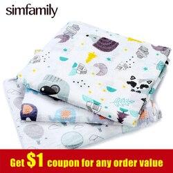 [Simfamily] 1pc musselina 100% algodão recém-nascidos swaddles macio bebê deken gaze cobertores infantis envoltório sleepsack swaddleme manta cobertor