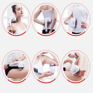 Image 3 - Dual Node Percussion Double Head Electric Action Handheld Massager for Deep Tissue Muscle Kneading Glow Healthy Vitality