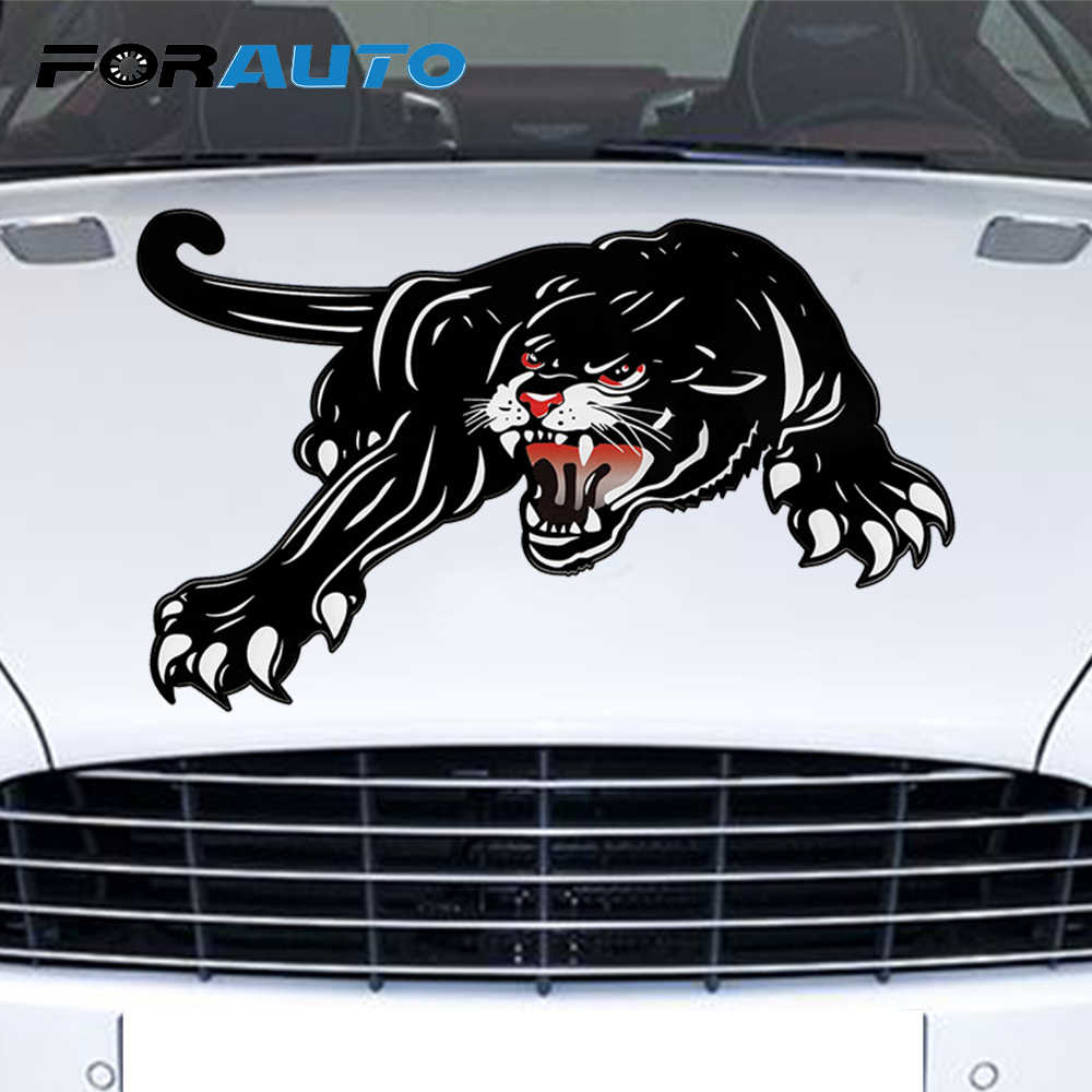 Forauto big car hood vinyl tiger car sticker car styling creative decals cyter for door