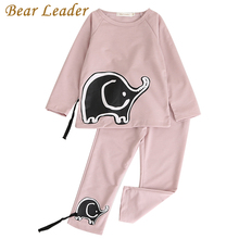 Bear Leader Girls Boys Clothing Sets 2017 New Autunm Sets Children Clothing Elephant Appliques Design Sweatshirts+Pants Suit