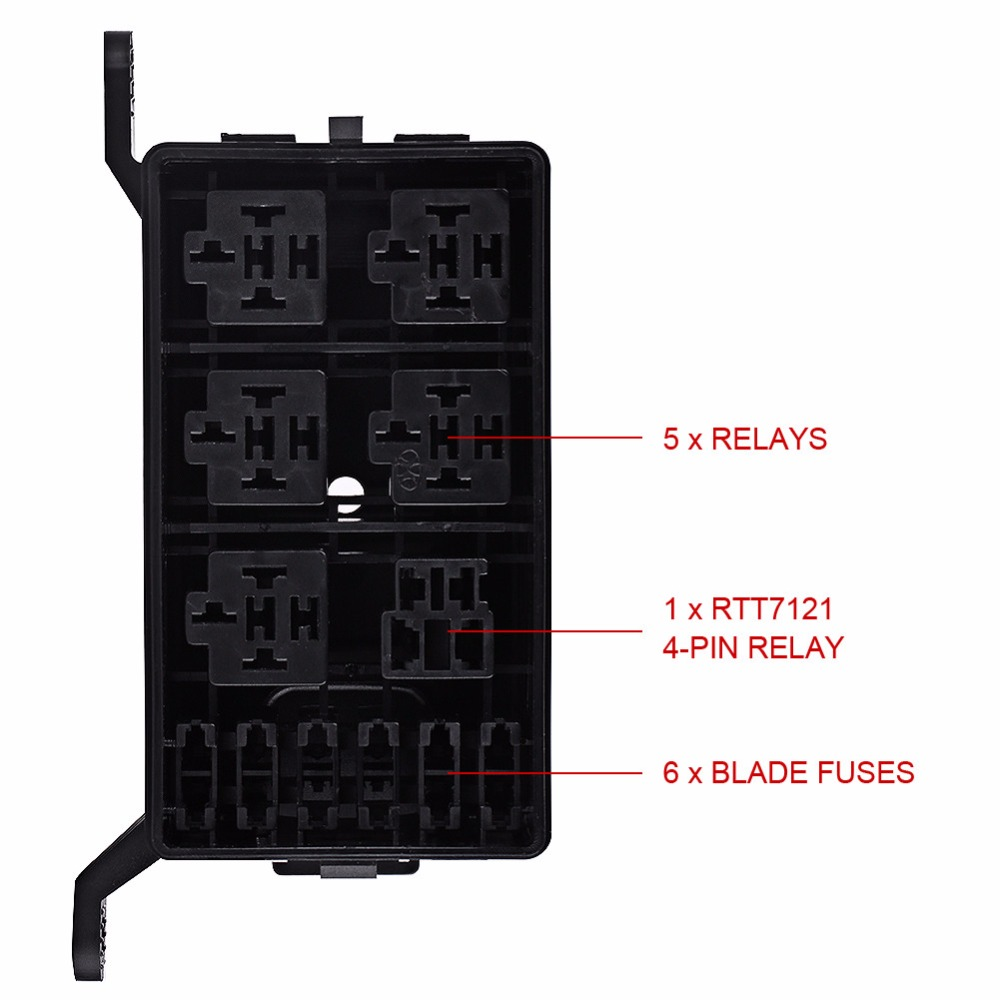 Off Road Fuse Box Wiring Library Motorcycle Relay With 1 Set 6 Way Holder Socket For Auto Car Suv Pickup
