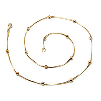 Hot Sale Small Beads Snake Chain Gold Color Silver Color Rose Gold Color Titanium Steel Necklaces