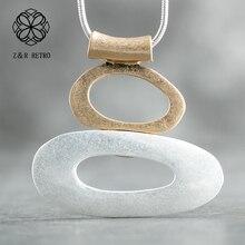 Long Necklace Pendants Chokers-Suspension Trendy Jewelry Big-Chain Statement Women
