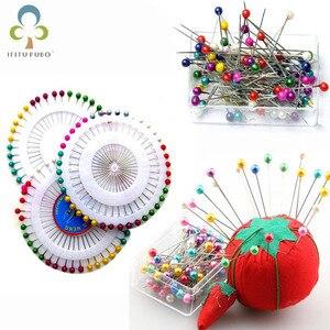 Lote de 200 unidades de alfileres redondos de cabeza recta, alfileres de imitación de pera, accesorios de costura para ropa DIY, agujas WYQ