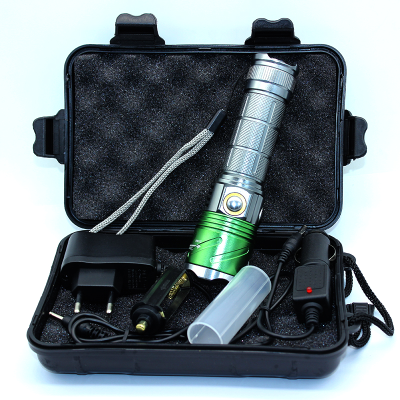 New Flashlights 2000LM 5W Powerful Torch Lamp CREE XM L2 U2 Led Flashlight 395 Ultraviolet Violet