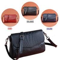Leather women bag Long strap Shoulder bag Genuine leather Black / Red / Dark Blue