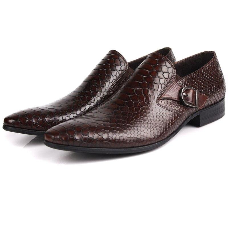 Dedo Couro vermelho Mycolen Negócios Novos Sapatas Apontado Genuíno Homens De Clássico Ayakkabi Sapatos Vinho Se Preto Dos Qualidade Vestem Alta Casamento H4Hq7Y