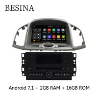 Besina 2 din 8 Inch Android 7.1 Car DVD Player For Chevrolet Captiva 2006 2015 GPS Navigation Radio WIFI 2GB+16GB Bluetooth SD