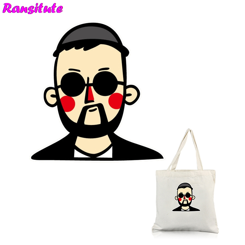 Ransitute R352 Leon Cartoon DIY Clothes Patch Cute Couple T-shirt A-level Powder Thermal Transfer Decoration Hot Map