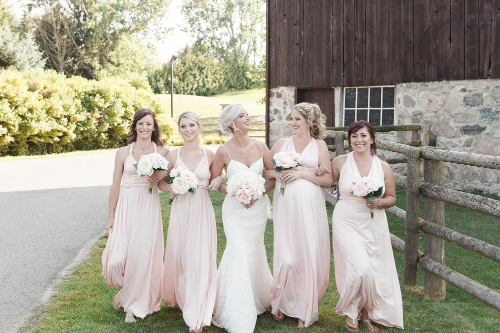 2019 New Blush bridesmaid dress infinity convertible maternity gown party prom multiway long dresses