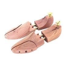 1คู่รองเท้ารองเท้าต้นไม้ไม้กว้างปรับได้สำหรับบุรุษEU 43 44