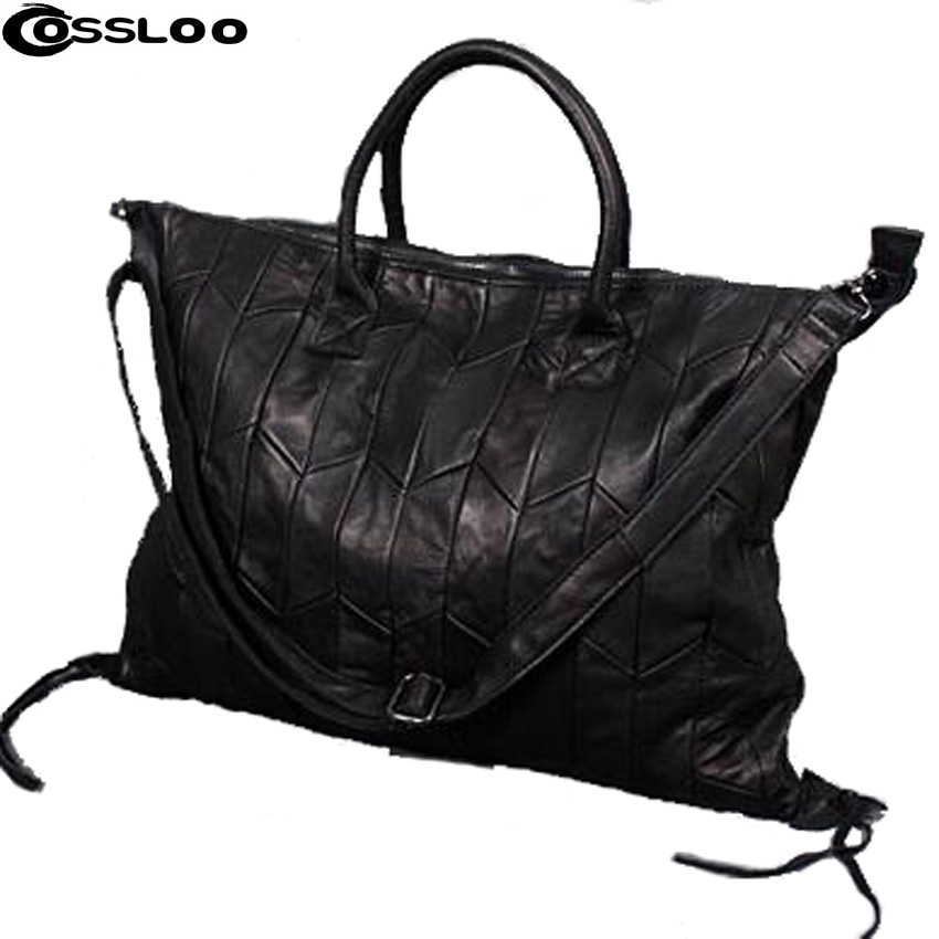 COSSLOO 2018 Genuine Leather Bags For Women Fashion Genuine Leather Handbag Retro Famous Brand Bag Designer Women Leather Bags genuine leather
