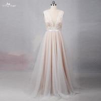 RSW1257 Illusion Back Neckline Cheap Simple Wedding Dress Beach