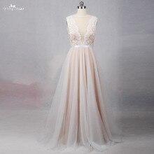 RSW1257 Illusion powrót dekolt tanie prosta suknia ślubna plaża