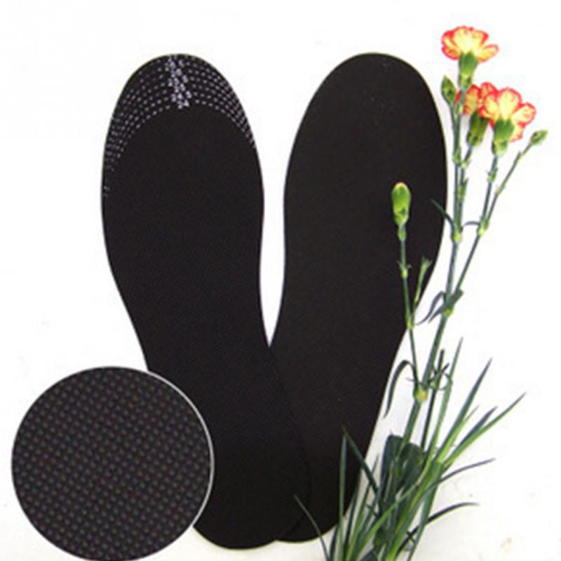 1 Pair Insoles Unisex Healthy Bamboo Charcoal Deodorant Cushion Foot Inserts Comfortable Shoe Pads Insoles Black 2019