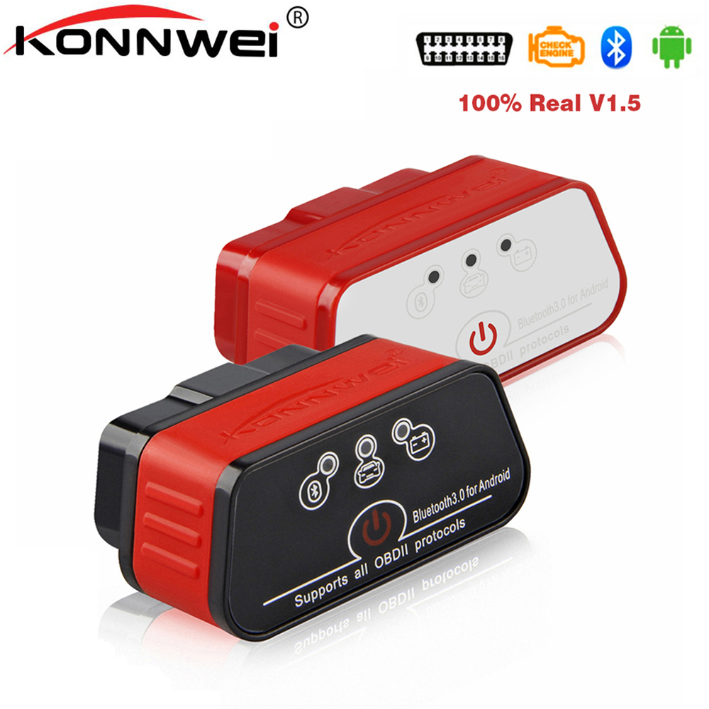 OBD2 ELM327 Auto Diagnostic Scanner KONNWEI ELM 327 V1 5 Bluetooth for Android EML327 AutoScanner Diagnostic Scanner for car