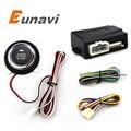 Eunavi Imobilizador de Alarme de Carro Com Botão de Arranque E Transponder Sistema de Parada de Partida Do Motor Do Carro