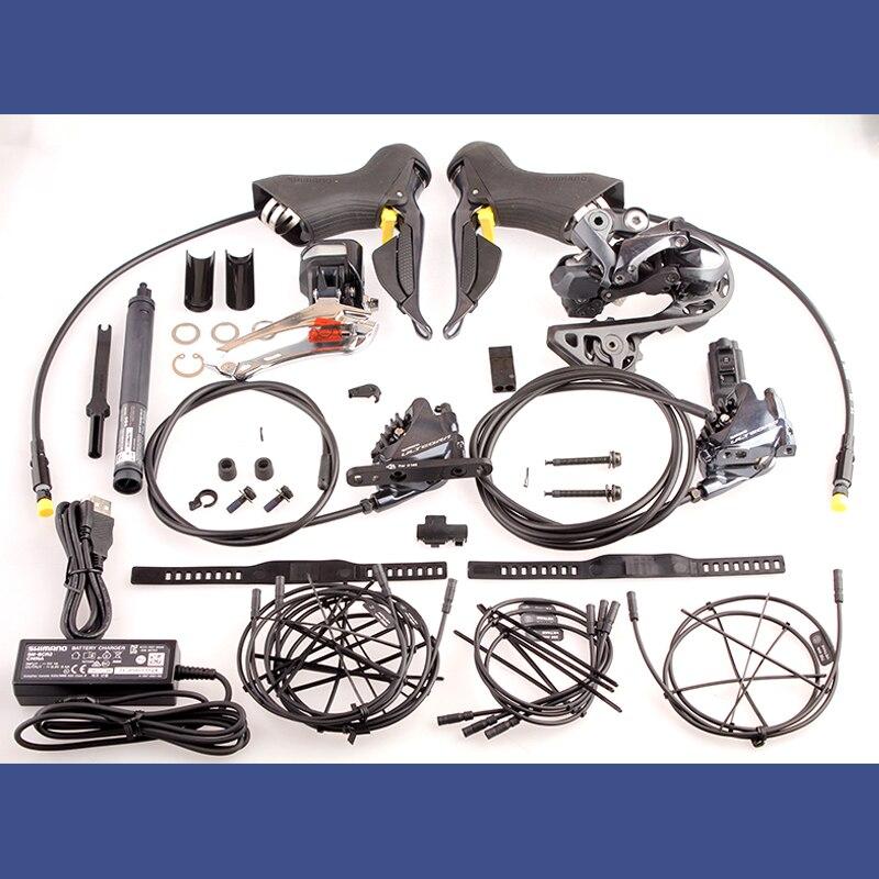 Shimano ULTEGRA 2x11 Velocità R8070 Di2 Freno A Disco Idraulico Elettrico Della Bicicletta Della Strada Groupset Shifter Deragliatore Kit