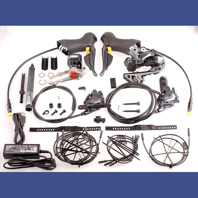 Shimano ULTEGRA Velocidade 2x11 R8070 Di2 Hidráulica Elétrica Freio a Disco Estrada Bicicleta Groupset Shifter Desviador Kit