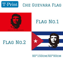 Free shipping Che Guevara Cuba Flag 3x5 Ft 90*150cm Communist Revolutionary Revolution Cuban Political