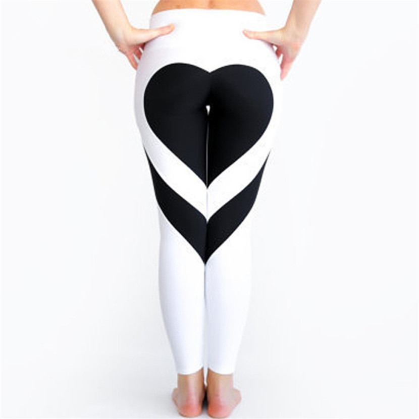 Heart Pattern Mesh Splice Legging Harajuku Athleisure Fitness Clothing Sportswear Elastic Sporting Leggings Women Pants