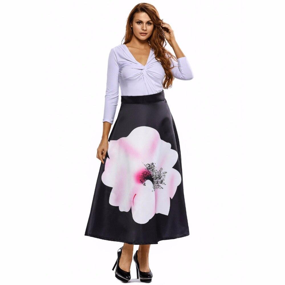 egnmc mature intellectual skirt elegant grace preppy style floral