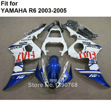 7 Free Gifts Motorcycle Fairing Kit For Yamaha YZF R6 2003 2004 2005 White Blue Fairings