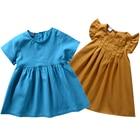Brand Summer Vest Girls Dresses Baby Girl Dress Twin First Birthday Girl Princess Party Dress Vestido Beachwear Outfits 3 Years