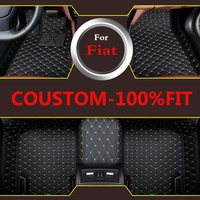 Car Floor Mats Auto Interior Artificial Leather Rugs Liners For Fiat 500 Reemont Punto Linea Ottimo Bravo